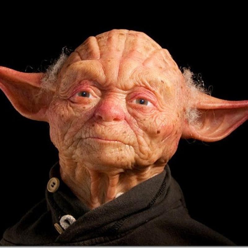 Escultura de  Yoda realista. Yoda humano