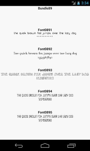 Fonts for FlipFont 89