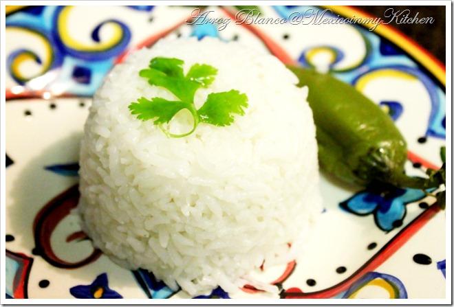 Mexico in My Kitchen: Mexican White Rice Recipe / Receta ...