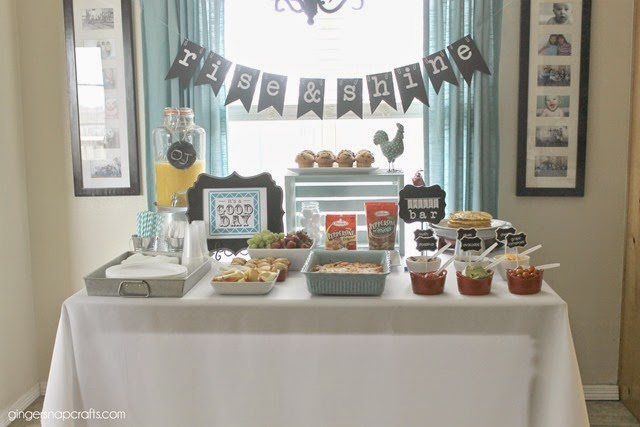 Rise & Shine Party #breakfast #partyideas