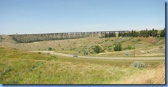 1705 Alberta Lethbridge - High Level Bridge from beside Galt Museum Stitch
