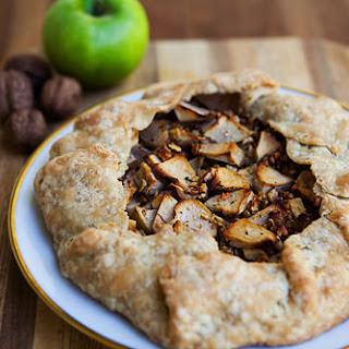 Apple Walnut Gorgonzola Rustic Tart.