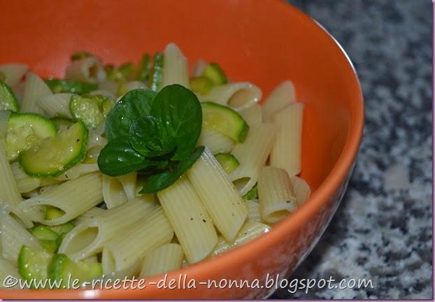 Penne vegan con zucchine, cipollotto fresco e menta (8)
