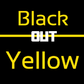 Blackout Yellow Keyboard Skin