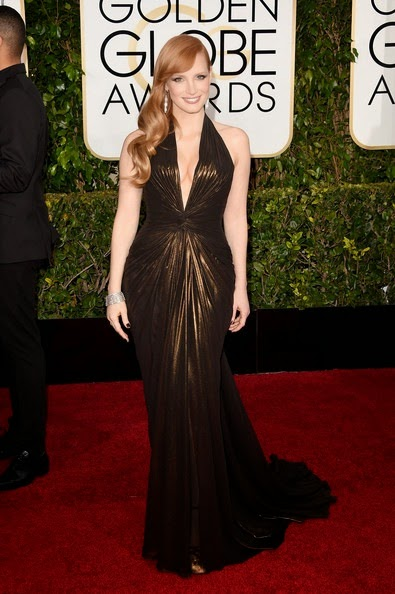 Jessica Chastain attends the 72nd Annual Golden Globe Awards