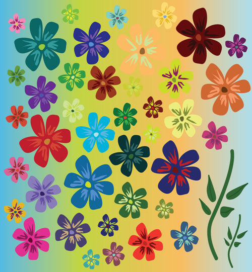 Vector - Flowers_bgob_BG by DragonArt