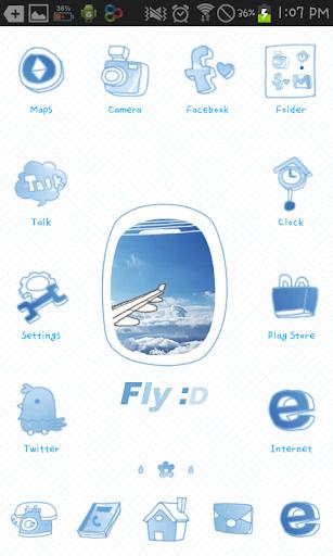 Fly Go launcher theme