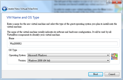 Virtual Box with Microsoft Windows Server 2008 R2 VHD   SQL Panda