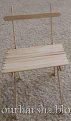 Popsicle sticks Chair (2)