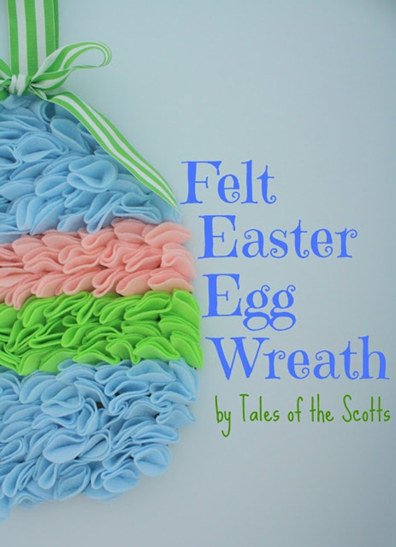 Felt Easter Egg Wreath 1