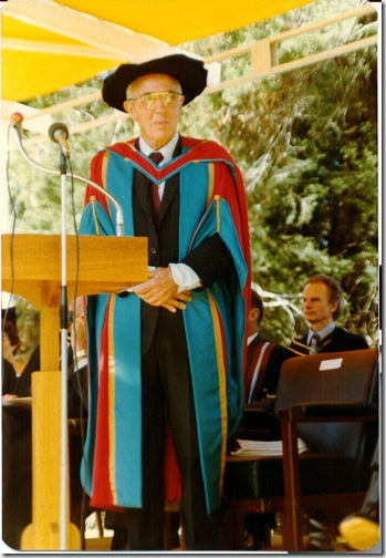 Prof gets his doctorate of economics, April 1970
