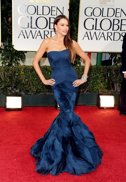 Sofia Vergara arrives at the 69th Annual Golden Globe Awards