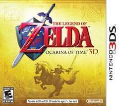 Capa da versão americana de The Legend of Zelda: Ocarina of Time 3D