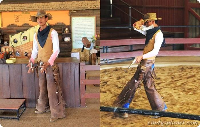 chok chai farm cowboy gun spinning