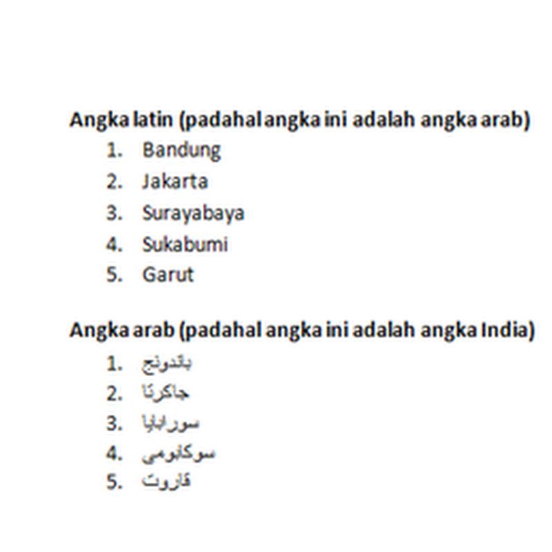 Mengubah angka Latin menjadi angka Arab
