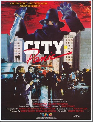 City in Panic Poster