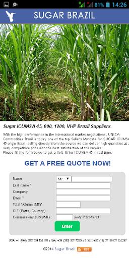Sugar Brazil - SCO ICUMSA 45