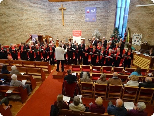 Wistaston Singers perform a Christmas Carol concert at St  Stephens Methodist Church