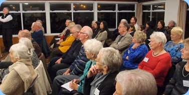 Some of the audience enthralled with the music. Photo courtesy of Dennis Lyons.