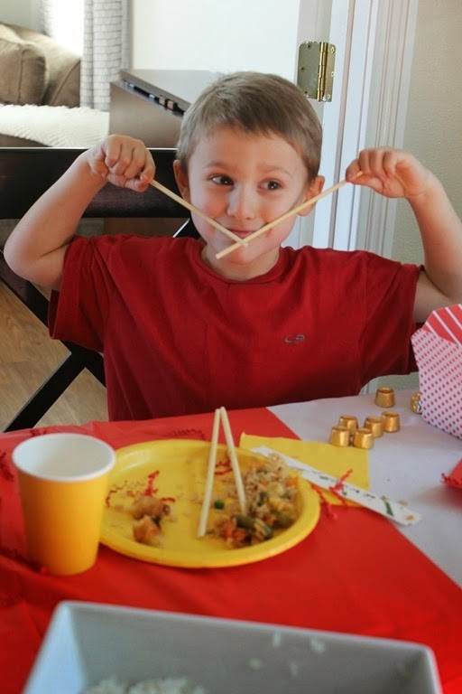 eating with chopsticks