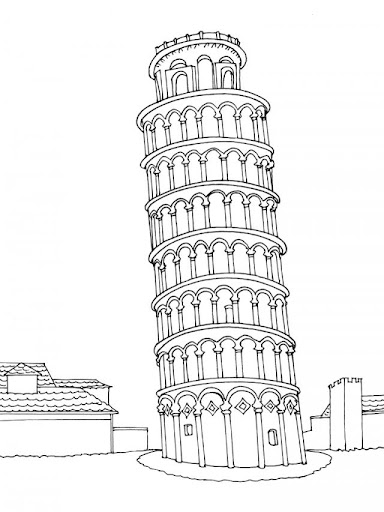 Para Colorear De La Torre Pisa Imagui