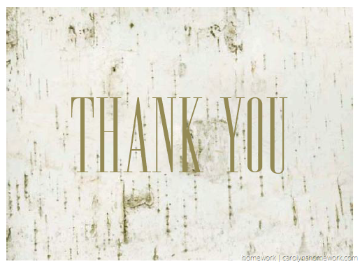 Birch Thank You Card 1