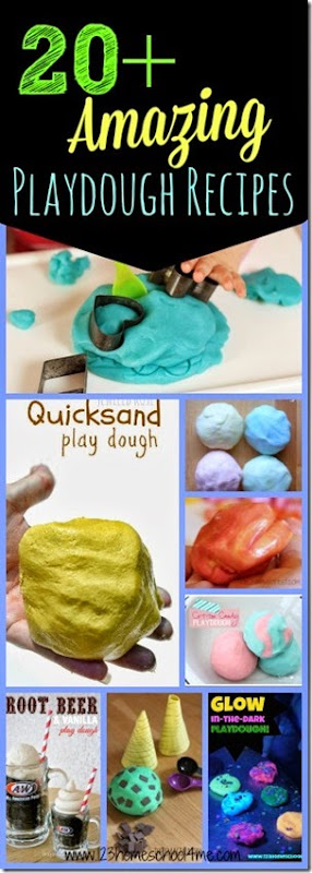 20+ Amazing Playdough Recipes for Kids - so many really unique, creative, and FUN play doh recipes for toddler, preschool, kindergarten, first grade and more