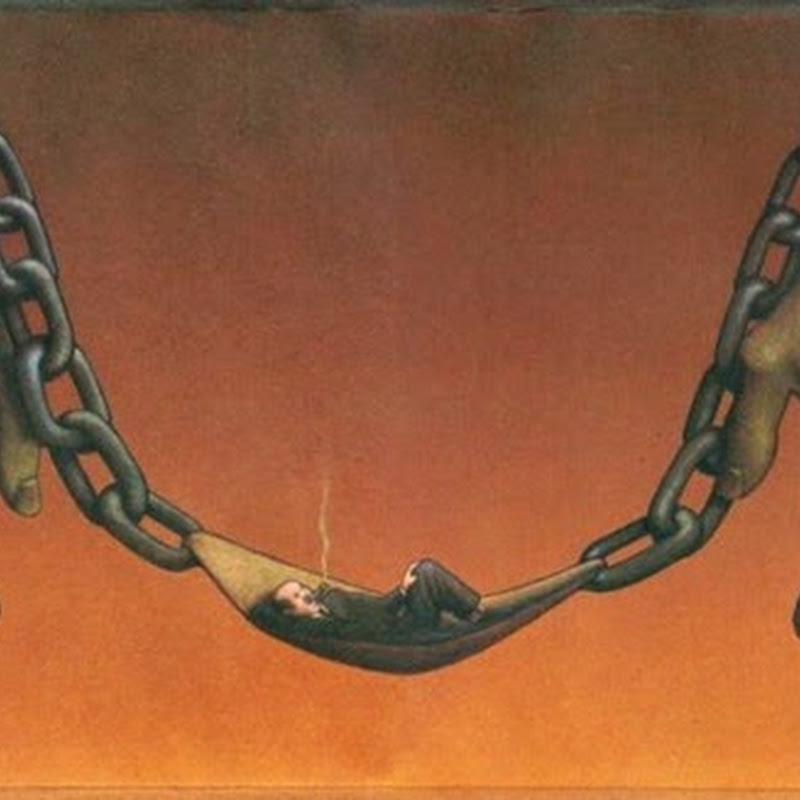 Contradictions of the human race in the illustrations by Pawel Kuczynski.