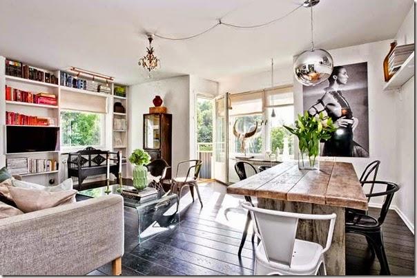 Mix di stili scandinavo vintage case e interni for Case stile americano interni
