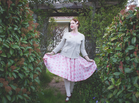 A 1950's vintage maternity look | Lavender & Twill