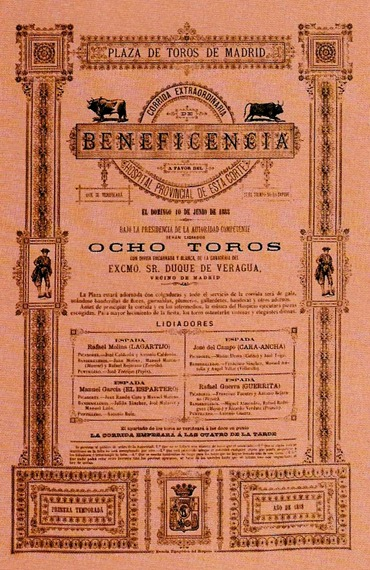 Cartel seda Madrid 10-06-1888 Beneficencia 001