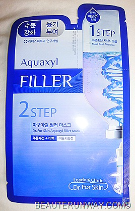 Leader's Clinic Dr. For Skin 2 step mask in Aquaxyl Filler Sephora Singapore