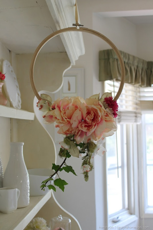 Spring Hoop Wreath via homework (3)