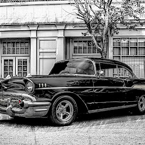 Bringing SexyBlack by RomanDA Photography - Transportation Automobiles ( pencil, car, sexy, hdr, edit, beauty, chevy, classic, black,  )
