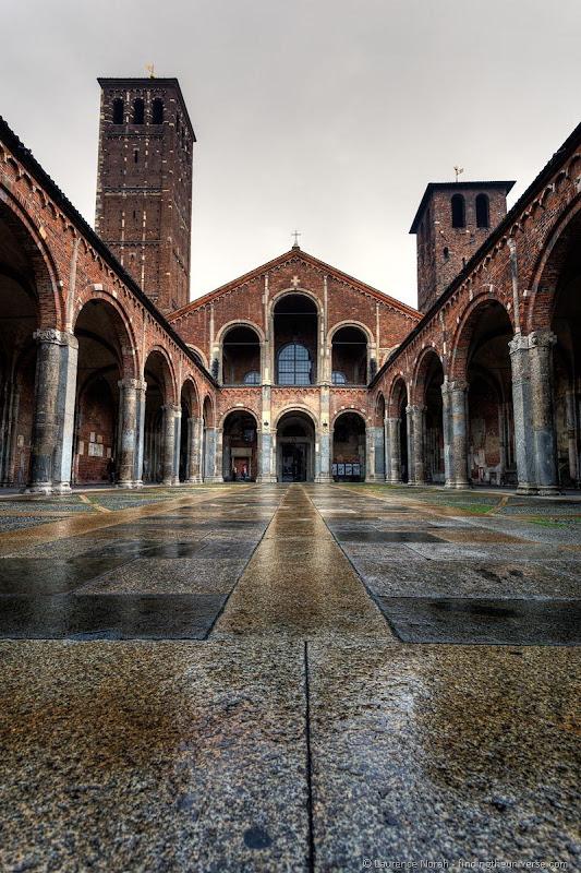 Milan cathedral rain