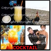 COCKTAIL- 4 Pics 1 Word Answers 3 Letters