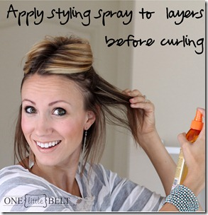 Apply styling spray to layers