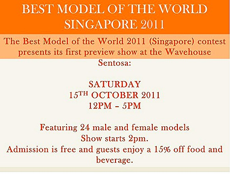 BestModel Of the World 2011 Preview Sentosa Wavehouse