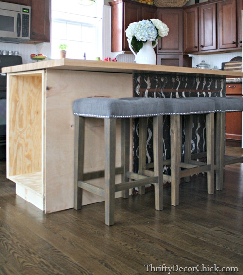 Kitchen Island Additions: The New Kitchen Island (A Start!) From Thrifty Decor Chick