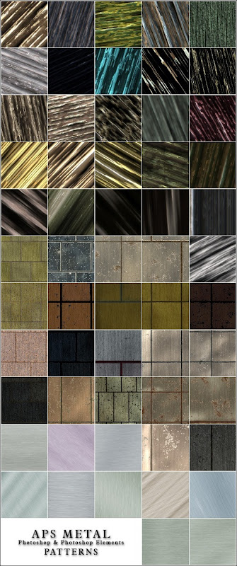 Free set of Metal patterns for Adobe Photoshop and Adobe Photoshop Elements