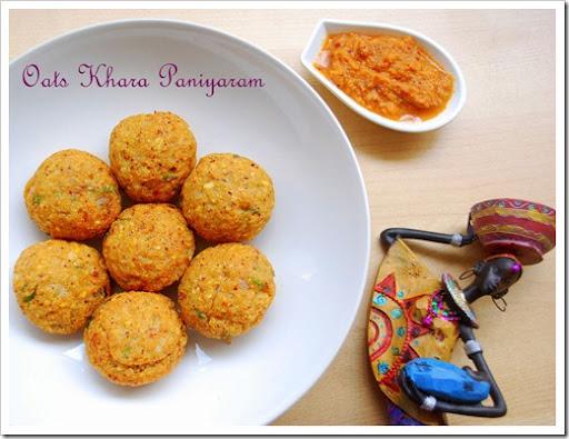 Indian Oats Recipes-Khara paniyaram