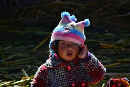 Lacul Tititcaca: Copil uros