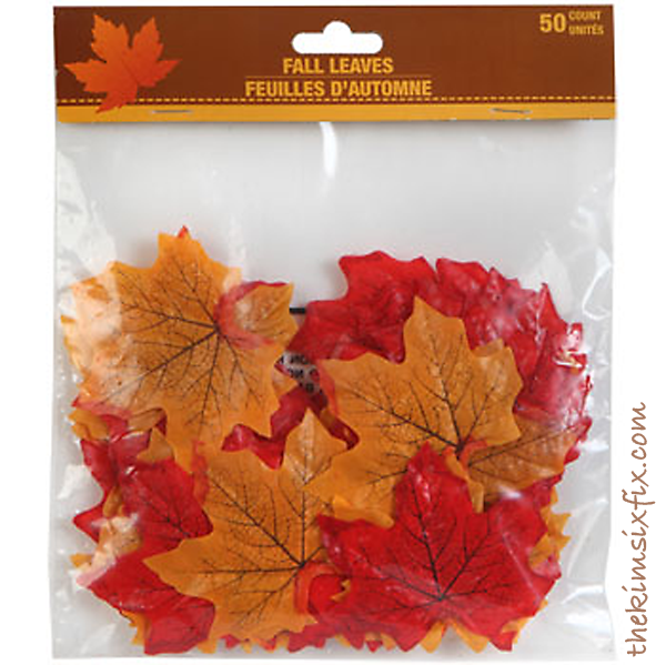 Dollar store fake leaves