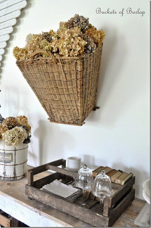 Dining room buffet basket