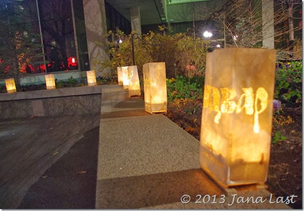 Luminaries on Temple Square during the Christmas Season