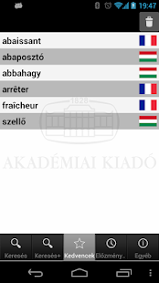 Hungarian-French Dictionary- screenshot thumbnail