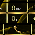Dialer MetalGate Gold theme