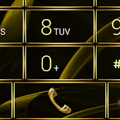 exDialer GlassMetal Gold theme