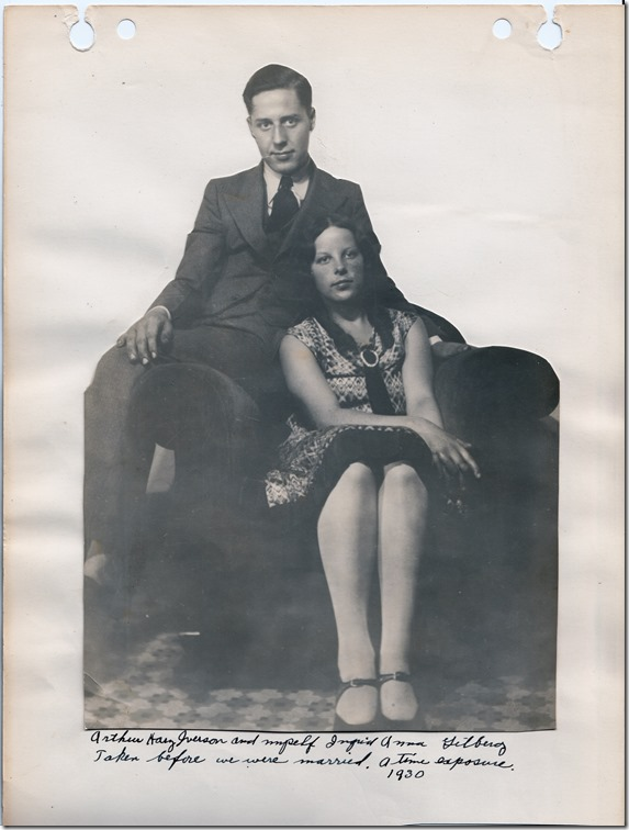 Arthur Iverson and Ingrid Gillberg in 1930