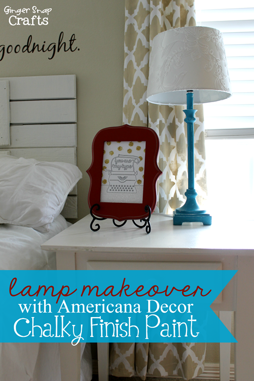 lamp makeover with Americana Decor Chalky Finish Paint